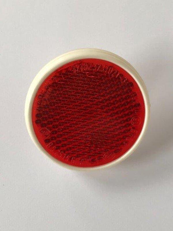 Odrazka 60 mm (červená, bílá) s rámečkem